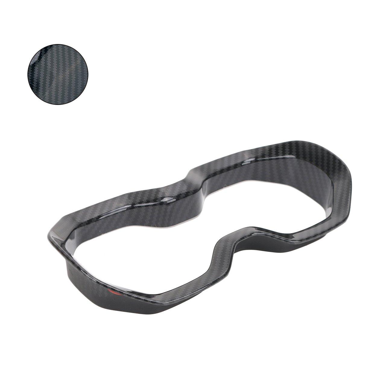 2 piezas Carcasa Cover Carbon Black No para Renegade 2018 Tablero de instrumentos Air Vent Frame Renegade 2015-2017