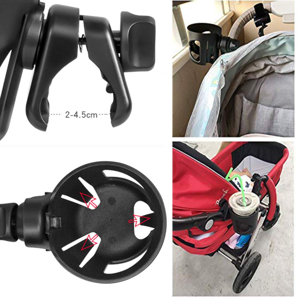cozywind Adjustable Universal Stroller Cup Holder,Attachable Drink Holder for Baby Stroller Installation Easy