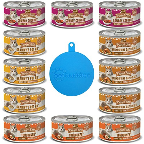Merrick Purrfect Bistro Grain Free Canned Cat Food 4 Flavor