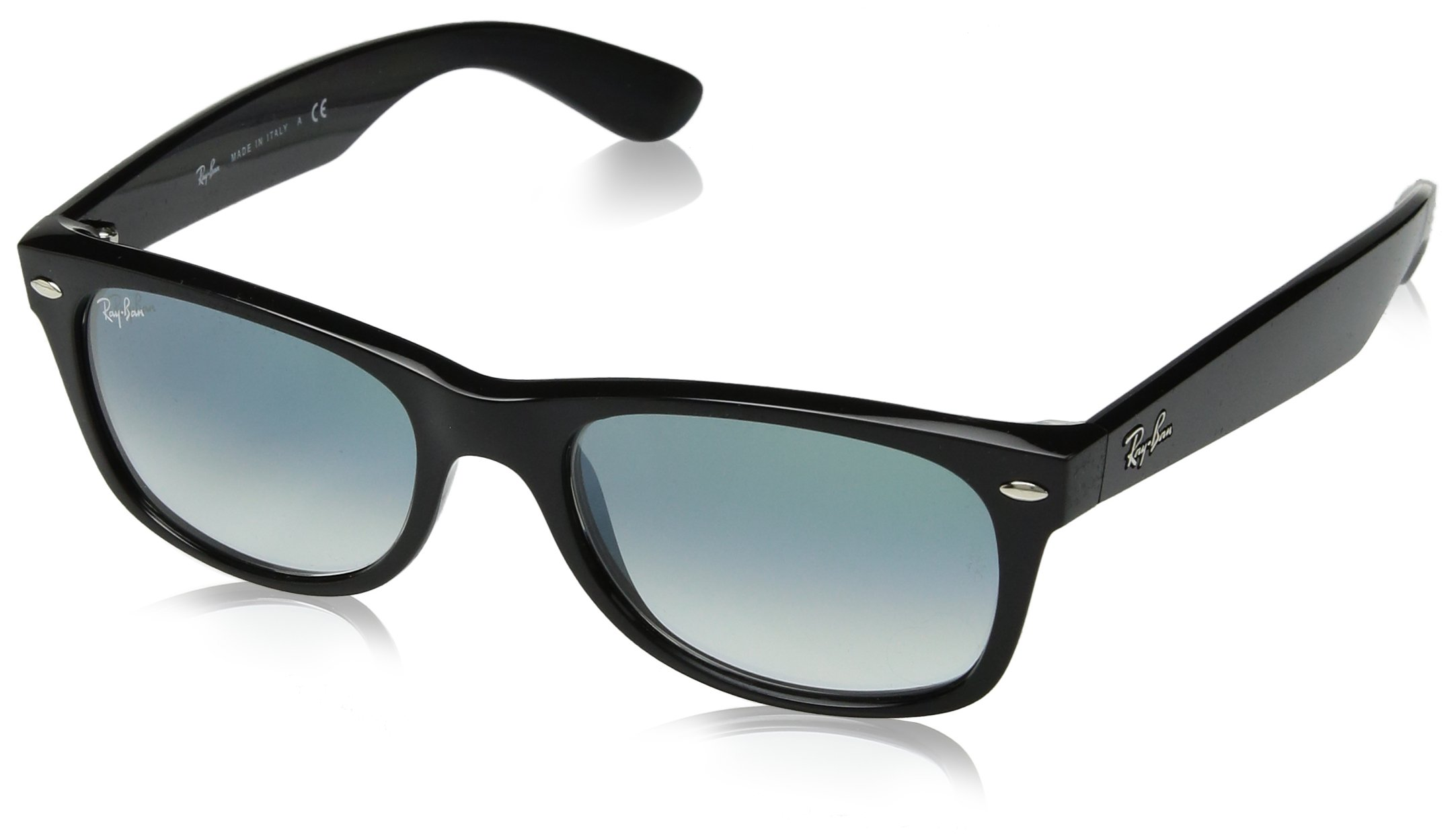 RAY-BAN RB2132 New Wayfarer Sunglasses, Black/Green Gradient, 52 mm by RAY-BAN