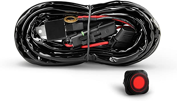 2 Leads Nilight Off Road Led Light Bar Wiring Harness Kit with ON//OFF Switch