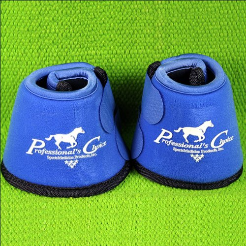 Professionals Choice Equine Quick Wrap Hoof Bell Boot, Pair (Medium, Royal Blue)
