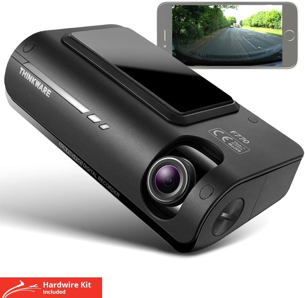 application Android // iOS Mod/èle EU carte SD de 32 Go et une c/âble alimentation allume-cigare Thinkware F770 Pro Dash Cam cam/éra voiture avant et arri/ère 1080P HD -