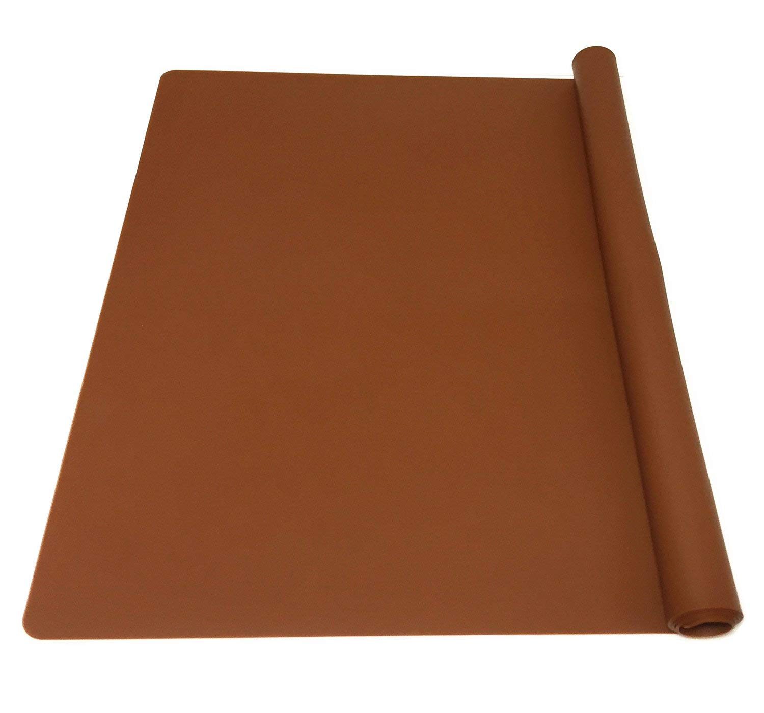 EPHome Extra Large Multipurpose Silicone Nonstick Pastry Mat, Heat Resistant Nonskid Table Mat, Countertop Protector, 23.6''15.75'' (XL, Chocolate)