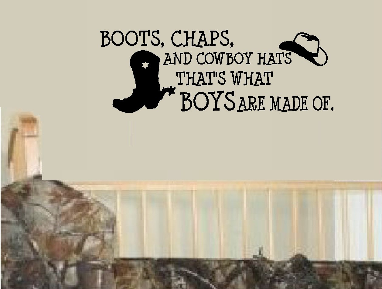 Amazon.com BOOTS CHAPS AND COWBOY HATS Thatu0027s what boys are made of #2 ~ WALL DECAL 10  X 28  Home u0026 Kitchen  sc 1 st  Amazon.com & Amazon.com: BOOTS CHAPS AND COWBOY HATS Thatu0027s what boys are made ...