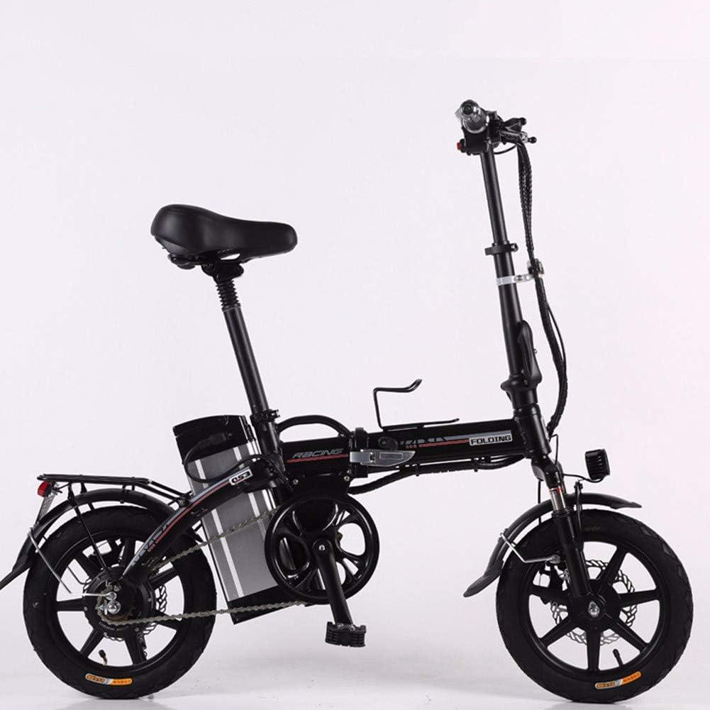 XCBY Triciclo de Movilidad eléctrica, Bicicleta eléctrica Plegable y portátil, Scooter eléctrico para Adultos, Motor máximo de 500 W, 45 km de Largo Alcance, con luz LED y Pantalla