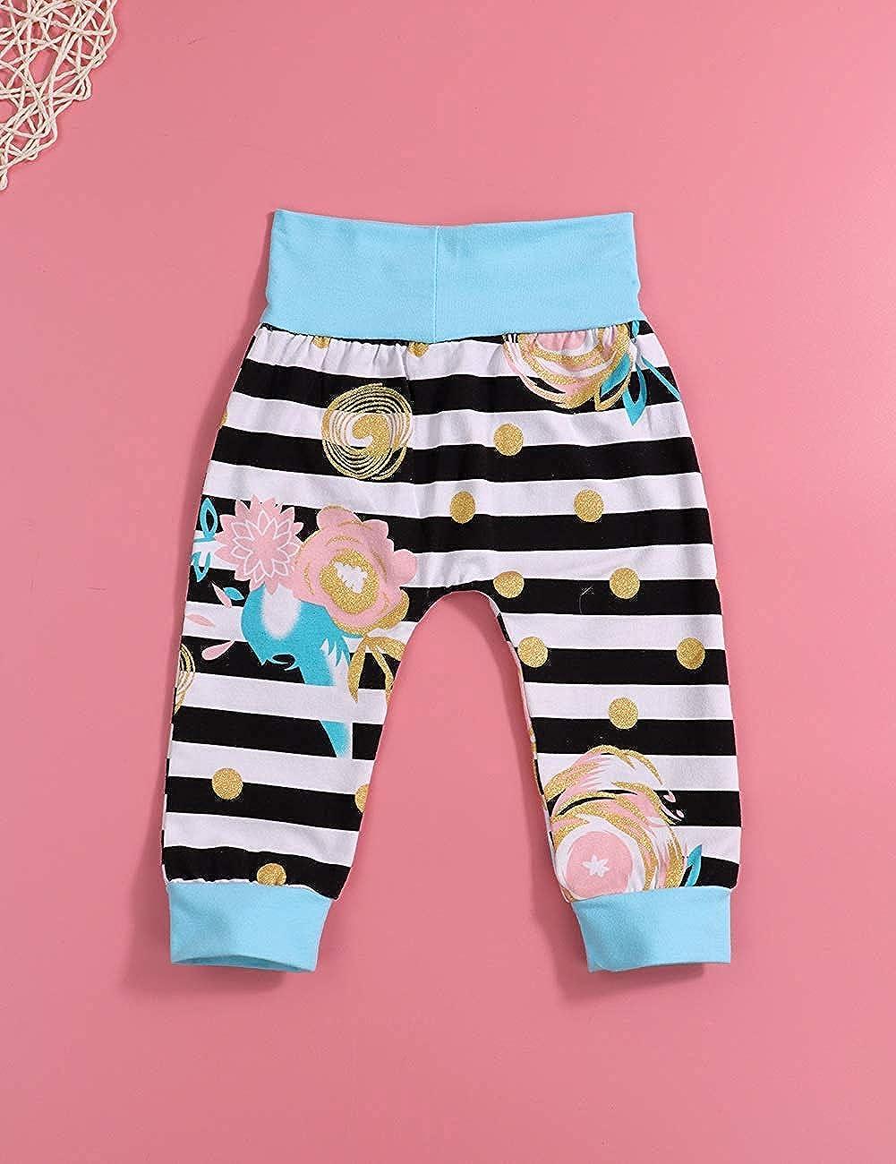 Hut mit Stirnb/ändern 4 St/ück Outfits Sets Ttkgyoe Babykleidung Neugeborene Kleine Schwester Bodysuit Gestreifte Hosen