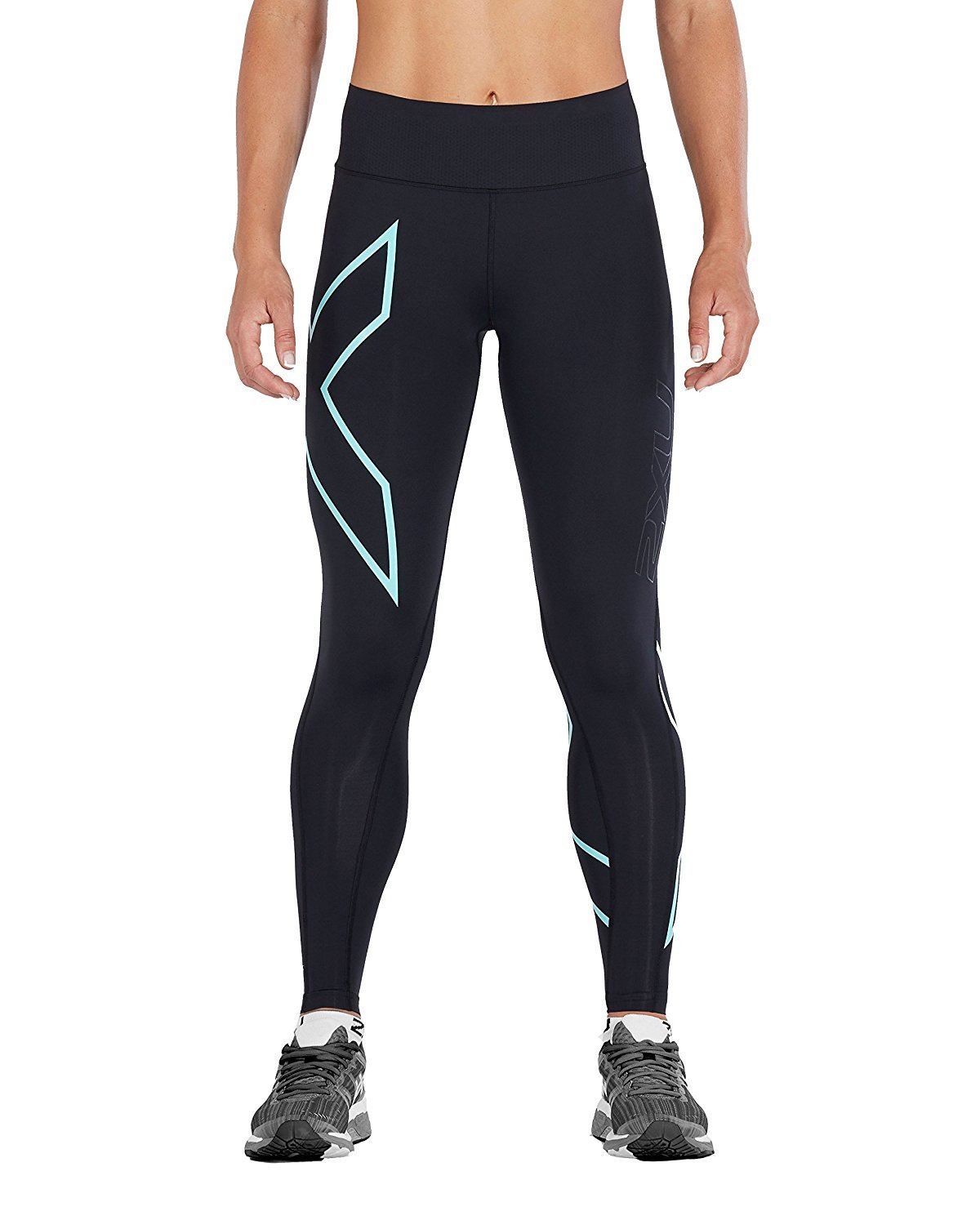 2XU Womens Bonded Mid-Rise Compression Tights