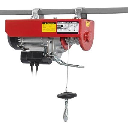ARKSEN Electric Overhead Motor Lift Hoist Garage Engine Winch Crane  w/Remote, 880 Lb Capacity