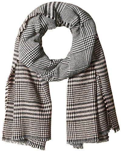 Orchid Row Women's Ombre Grid Wool Effect Cold Weather Scarf Blush O/S by Orchid Row