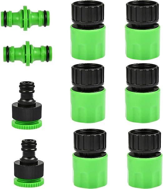 Rubinetti Da Giardino In Plastica.Qlouni Raccordi Per Tubo Da Giardino In Plastica Kit Connettori