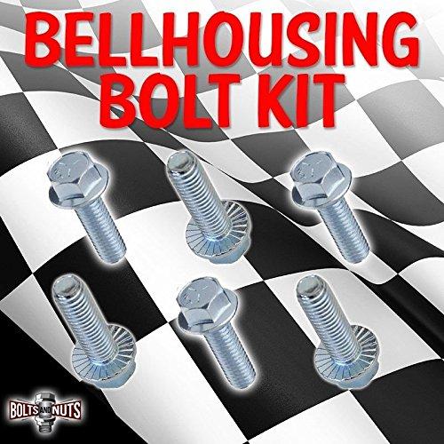 6 PACK Small Block Ford Bellhousing Bolt Kit 289 302 351W