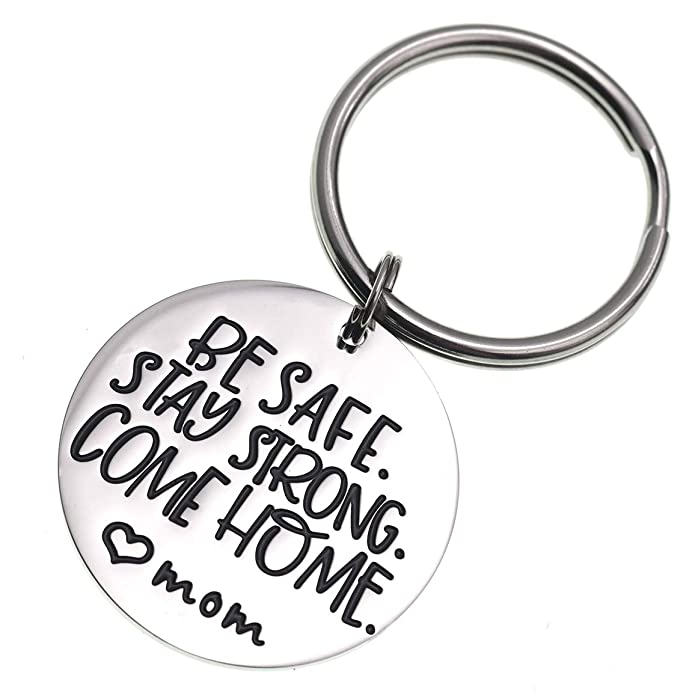 Amazon.com: LParkin Deployment Keychain Be Safe Stay Strong ...