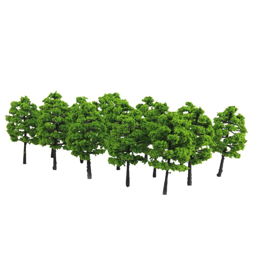 20pcs Plastic Model Trees Train Railroad Scenery 1:100 Generic