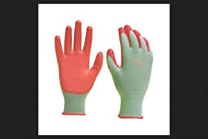 DIGZ Stretch Knit Garden Gloves with Polyurethane Coating, Medium