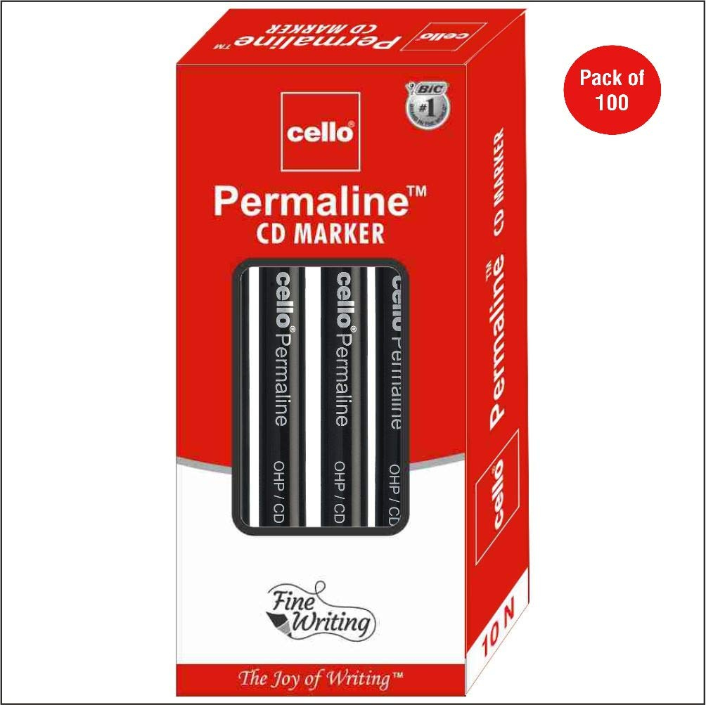 Cello Permaline CD Marker - Pack of 100 (Blue)