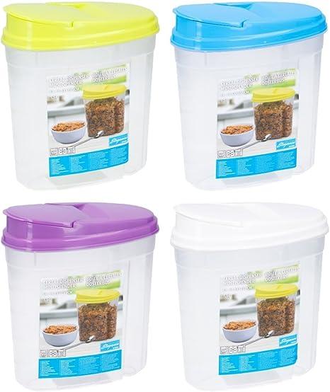 p/âtes Nourriture pour animaux et plus Invero 4/x Lot de plastique 1.5L pour nourriture s/èche de cuisine Bo/îte de rangement Distributeur /à nourriture Id/éal pour les c/ér/éales de riz