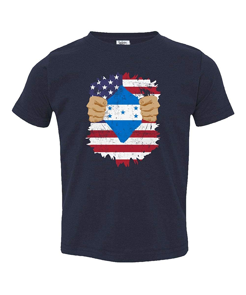 Societee Honduran American USA Honduras Pride Flag Youth /& Toddler Tee Shirt