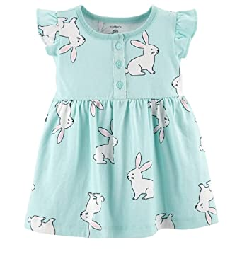 ea865cbfd790 Amazon.com: Baby Girl Carter's Bunny Henley Dress (24 Months ...