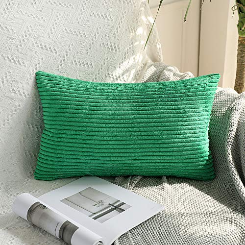 - MIULEE Corduroy Soft Soild Decorative Square Throw Pillow Covers Cushion Cases Pillow Cases for Couch Sofa Bedroom Car 12 x 20 Inch 30 x 50 cm