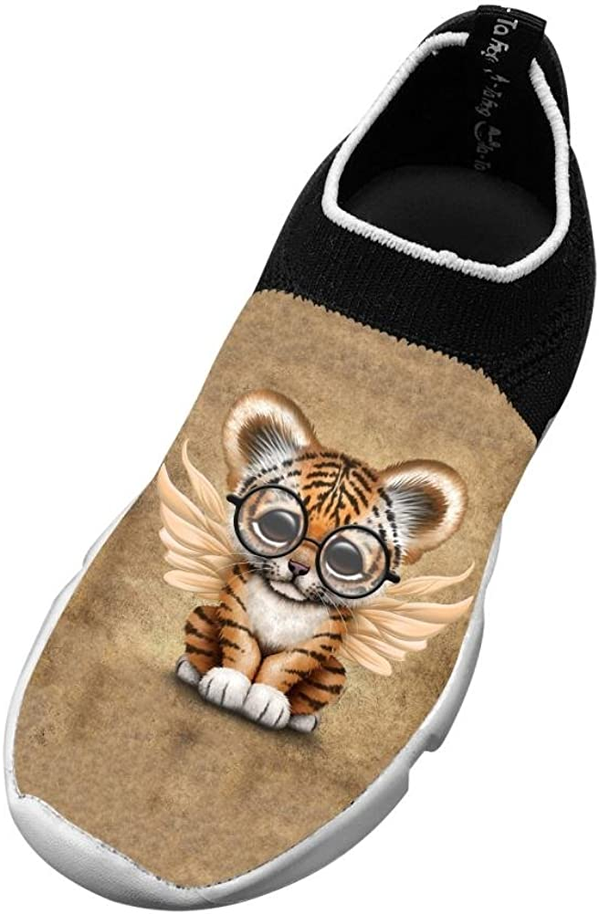 Tiger Cub New Awesome Flywire Knitting 3D Printing Gym Shoes For Unisex Kids