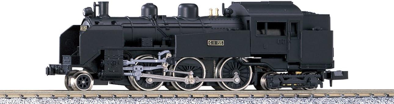 B0003KCPKU N Scale Steam Locomotive C11 #2002 [Japan Import] by Kato 61N-xK2VxBL.SL1290_