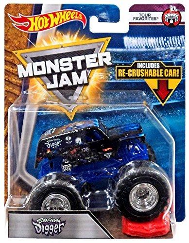Hot Wheels Monster Jam 2018 Tour Favorites Son-Uva Digger 1:64, Black and Blue