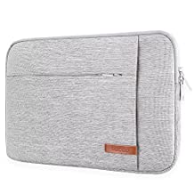 """Lacdo 14-15.4 Inch Laptop Sleeve Case for MacBook Pro 15"""" with Retina Display / Touch Bar / Acer Chromebook 14, HP 14-inch Laptop, HP Stream Laptop 14, Notebook Bag Dell ASUS, Water Repellent, Gray"""