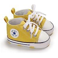 DEBAIJIA Bebé Primeros Pasos Zapatos de Lona 0-18M Niños Alpargata Suave Antideslizante Ligero Slip-on