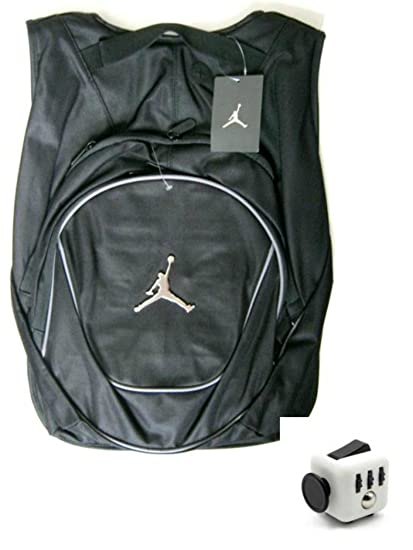 5b2ef3a73ae4 Amazon.com  Nike Air Jordan Jumpman 23 Book Bag Backpack with FREE FIDGET  CUBE  Sports   Outdoors