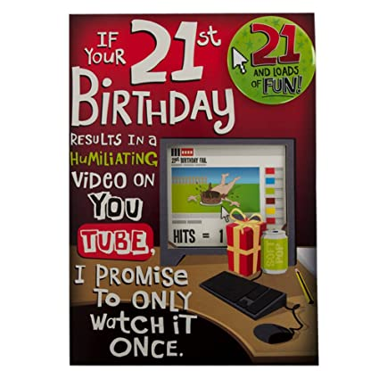 Amazon Hallmark 21st Birthday Card For Him Youtube