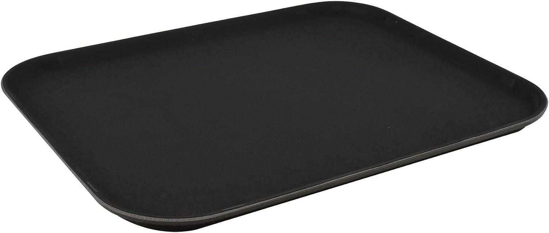 Bandeja antideslizante para servir - Para comida y bebidas - Negro - 35 x 45cm