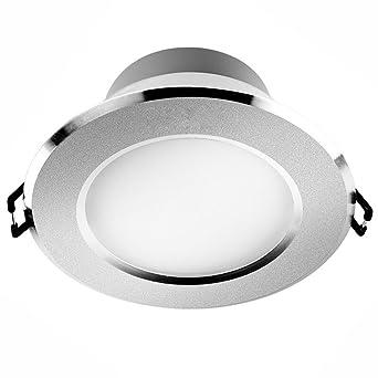 Verlight LED Downlight Einbauküche Bad Lampe Runde Deckenplatte Licht  Blendschutz Energiesparende Eingebettete Strahler Keine Blendung Und