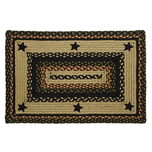 Amazon.com: IHF Rugs Tartan Star Rectangle Braided Rug