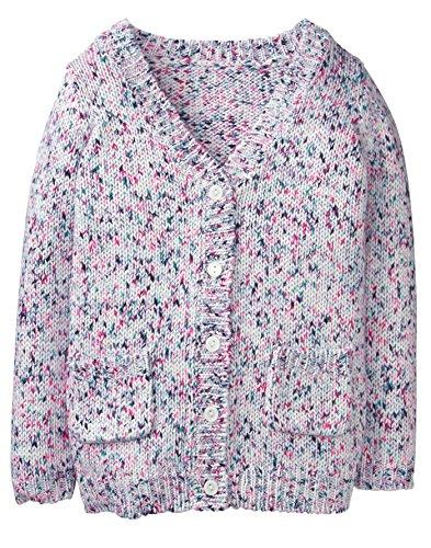 Gymboree Girls' Little Long Sleeve Confetti Cardigan, Pink dot, M