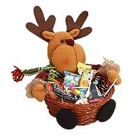 Supertop Christmas Candy Storage Adorno de Navidad Adorno de Santa/Muñeco de nieve/Elk