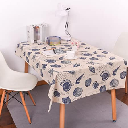 Merveilleux LFu0026F Tablecloth European Mediterranean Style Letter Conch Kitchen Casual  Dining Tablecloths Waterproof Resistant Washed Table Cloth