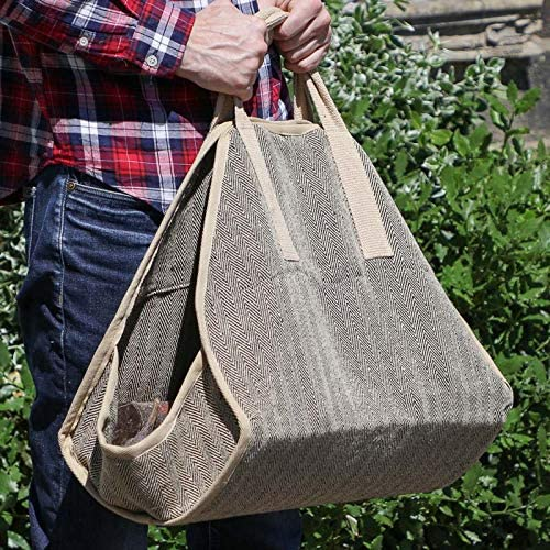 Dibor Heavy Duty Herringbone Hessian Jute Log Cradle Gobbler Bag