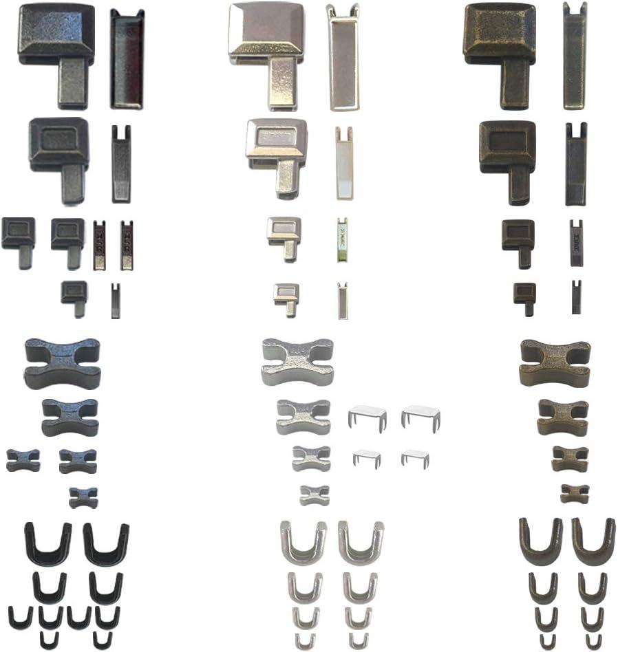 Gold 30 Sets #5 Metal Zipper Latch Slider Retainer Insertion Pin Zipper Bottom Zipper Stopper for Metal Zipper Repair