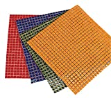 Diamond Tech Ceramic Solid Square Mosaic Tile Color Sheet, 12 X 12 in, Black, 625 Tiles/Sheet