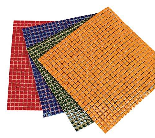 Diamond Tech Ceramic Solid Square Mosaic Tile Color Sheet, 12 X 12 in, Black, 625 Tiles/Sheet by Jennifer's Mosaics