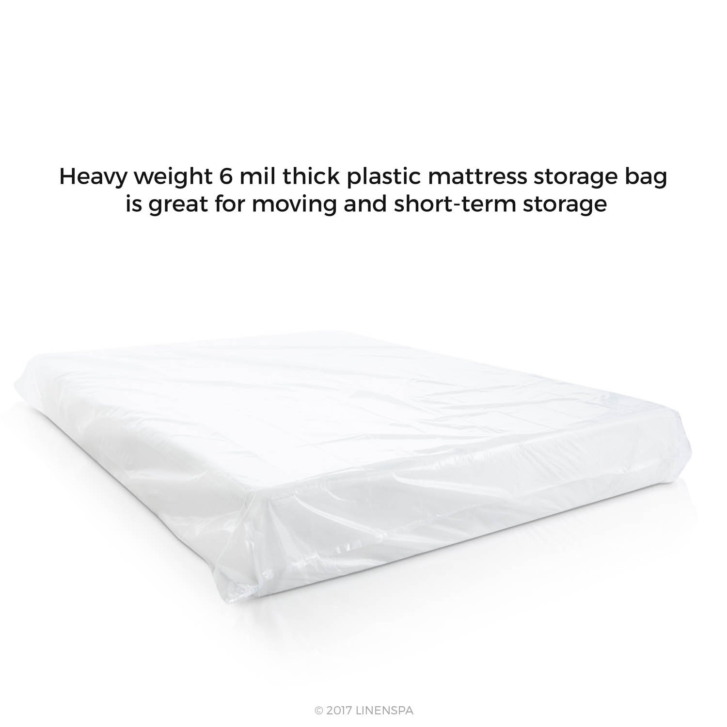 Delicieux Amazon.com: LINENSPA Heavy Duty 6 Mil Mattress Bag For Moving, Storage And  Disposal   Full / Full XL /Queen: Home U0026 Kitchen