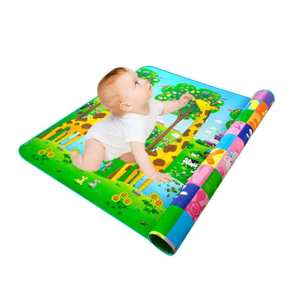 IMSHI Large Folding Play Mat Floor Gym - BPA Free Non-Toxic Foam Baby Playmats 78.74 * 70.87 in Thick Extra Reversible Crawling Mat Portable Toddlers Kids Waterproof Non-Slip Tummy Time Playroom IMSHI®