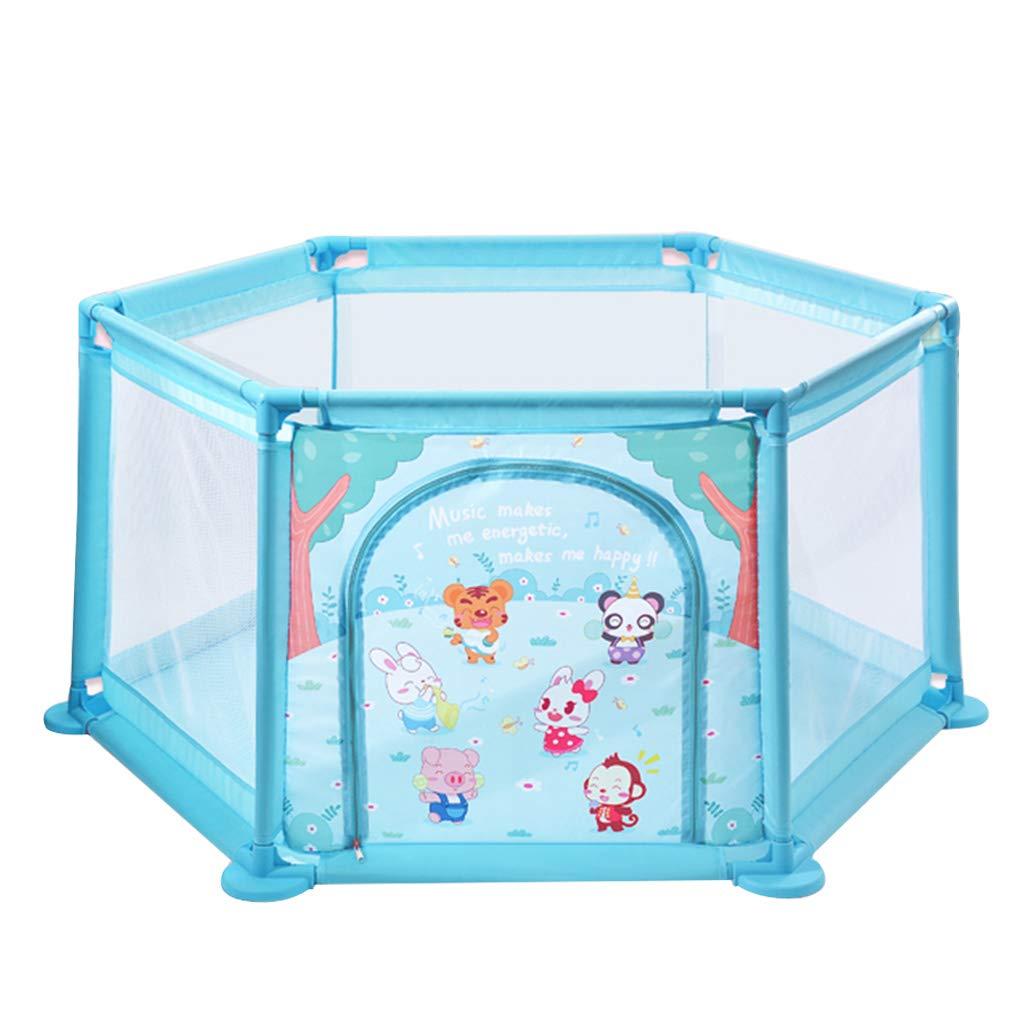 ゲームプレイペン保護フェンス屋内プレイグラウンドおもちゃプール安全な子供用プレイエリアベストギフト (Color : Pink, Size : 145x145x65cm) 145x145x65cm Pink B07LGZC3TP