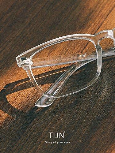 ebb2340fc17 TIJN Chic Transparent Square Glasses Clear Frame Non-prescription  Eyeglasses for Men Women