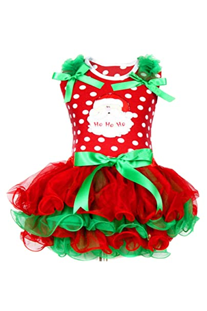 91f080237c585 Amazon.com: Toddler Girls Christmas Dress Xmas Party Santa ...