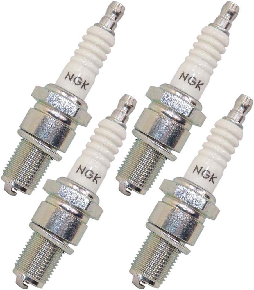 NGK Standard Spark Plugs Stock 5866 Nickel Core Tip Standard 0.036in BR5ES 4pcs Set