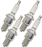 NGK 5722 BR9ES Standard Spark Plug, Pack of 4