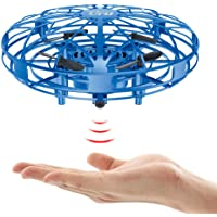 UFO Drone 2.4G 4CH RC Helicopter Quadcopter Toys for Boys or Girls Flying Toys Drones with 2 Speed and LED Light for Kids & Adults Hand Controlled Blue Flying Ball Drone with 360° Rotation (Blue)