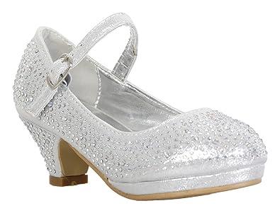 Amazon.com | Link Girls Kids Dana-53K Rhinestone Heel Platform ...